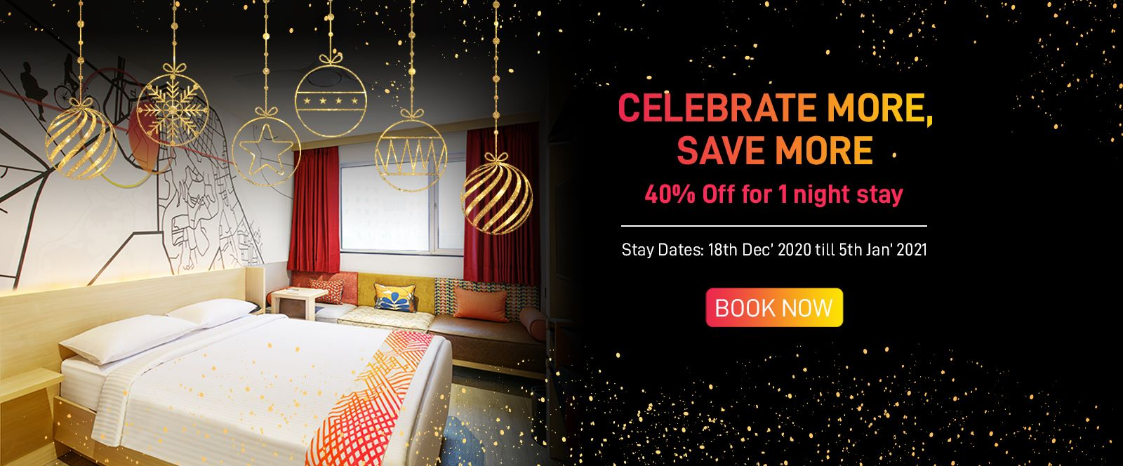40% off on 1 night stay