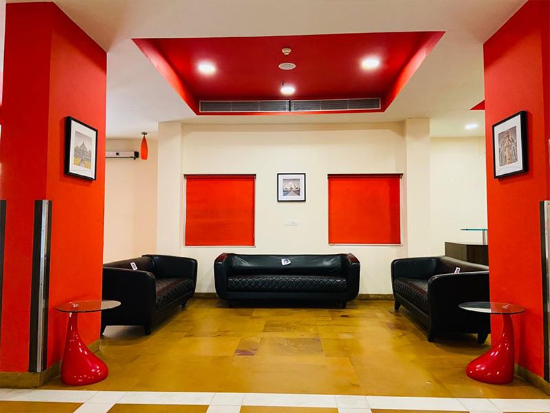 Lobby in Ginger Delhi RYN