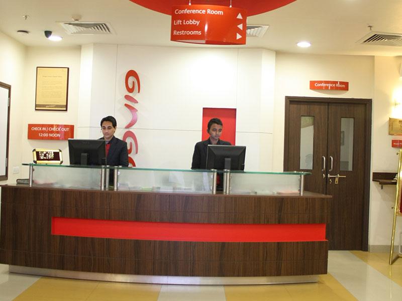Front Desk at Ginger Faridabad
