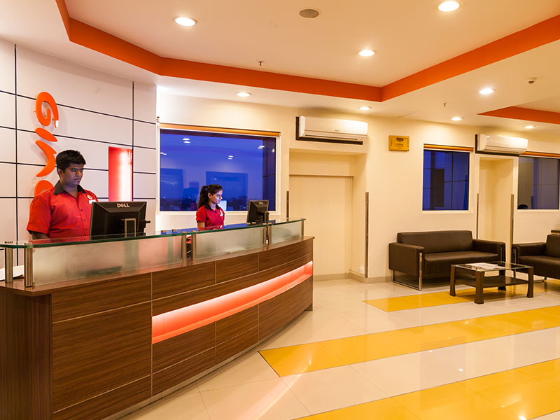 Front Desk at Ginger Indore