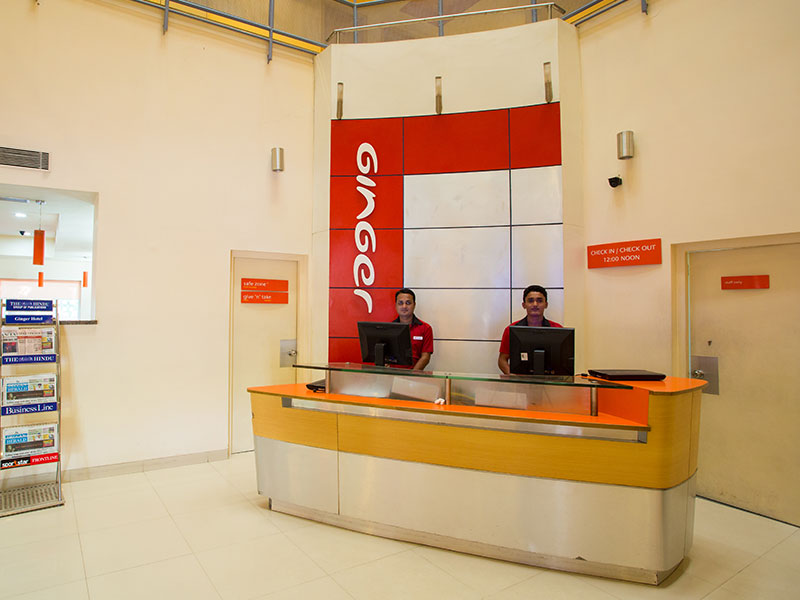 Front Desk in Ginger Mysore