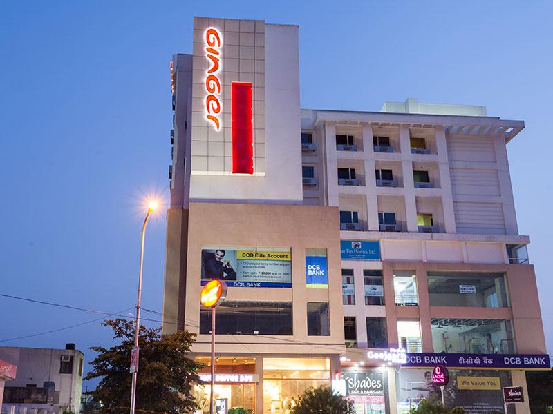 Front View Night at Ginger Jaipur
