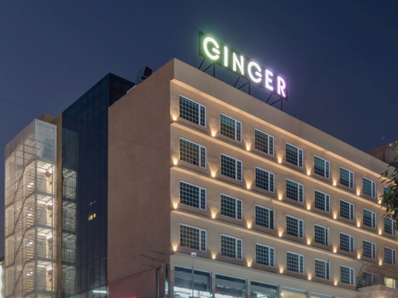 Front View ginger hotels Surat City Center