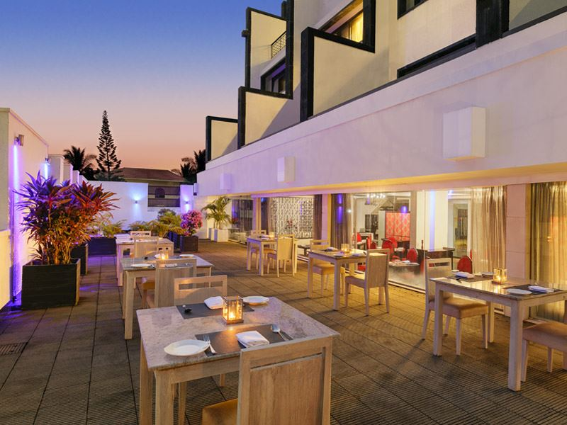 Outdoor Resturant at Ginger Goa
