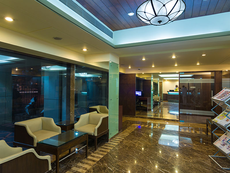 Lobby Seating Area at Ginger Thane