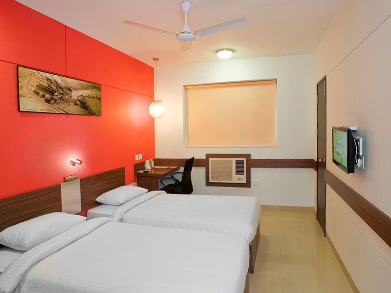 Twin Room Facing AC in Ginger Tirupur