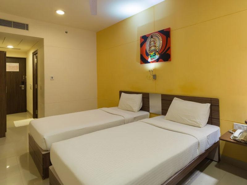 Twins Room at Ginger Chennai (Tharamani, IITM)